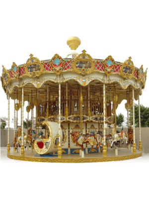 Ancient 2 Level Carousel - Indoor-Outdoor Rides