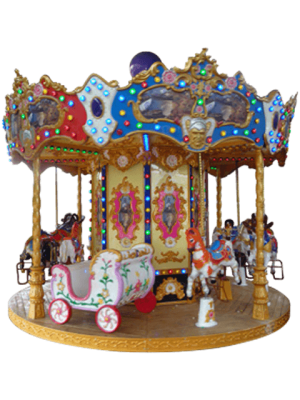 Ancient Carousel 12 Seats - Indoor-Outdoor Rides